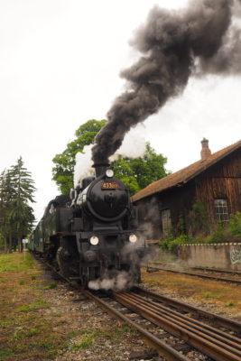 Lednice - parní vlak